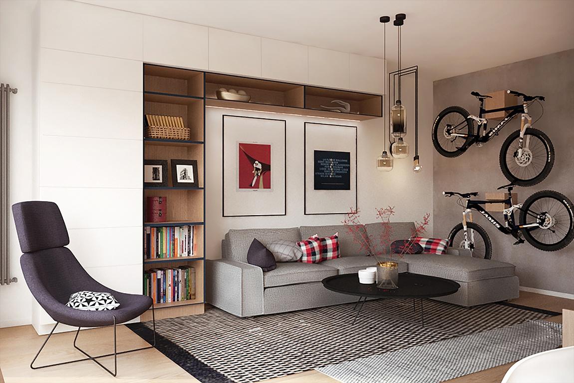 Poczynania projektowe Kraków 2+1 rower w domu?